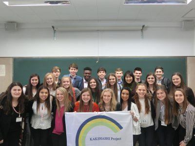 アメリカの高校生へ講義 JICEカケハシプロジェクト